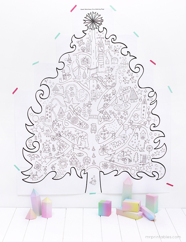 giant christmas coloring pages - photo#2