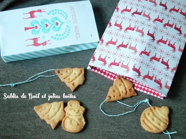 Sablés de Noël et jolie boîte à imprimer!