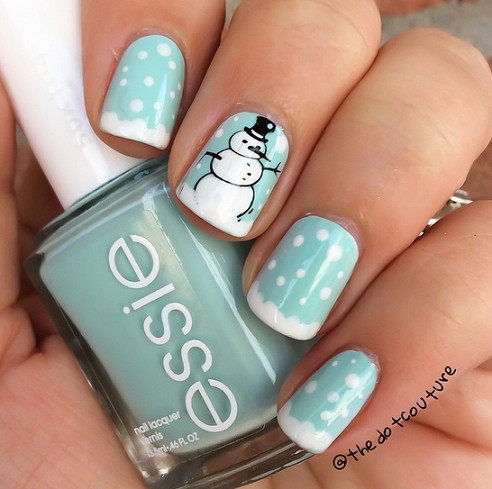 snowman-winter-nail-designs