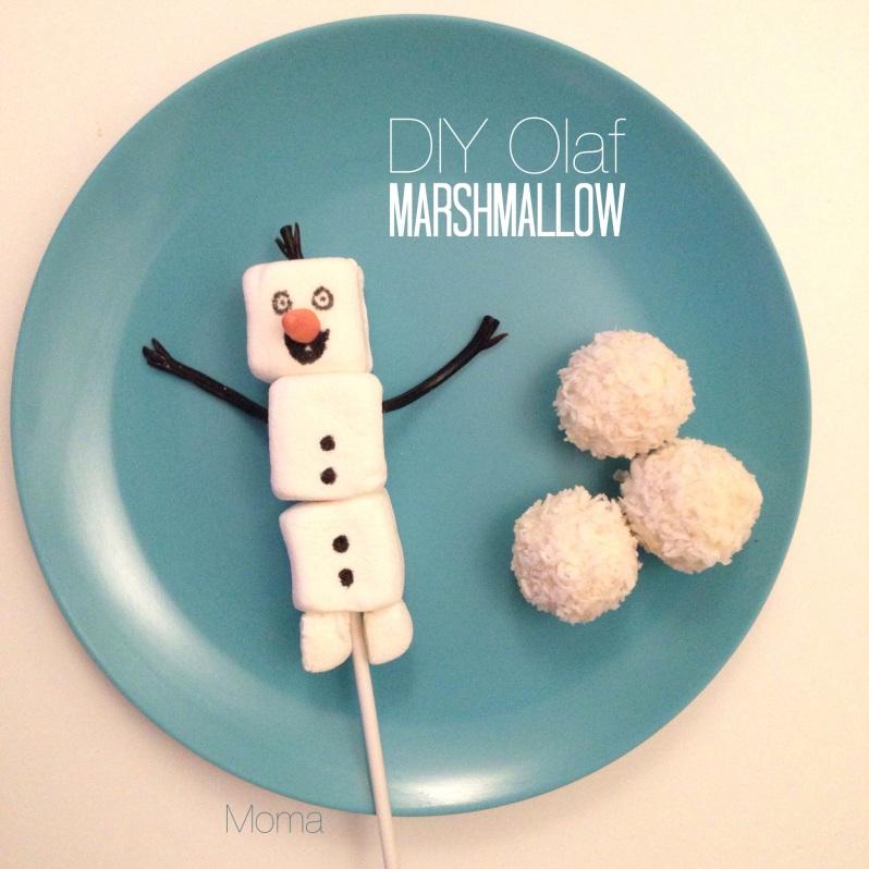 DIY Olaf Marshmallow