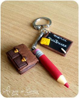 Porte clés Maitresse