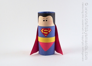Cardboard-Tube-Superman-1