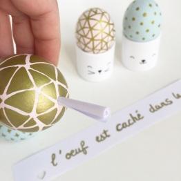 {DIY} Les œufs de Pâques à message!