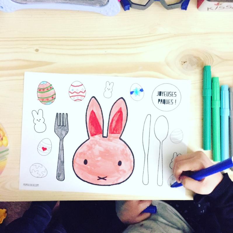 {Free} Set de table Miffy de Pâques à imprimer! Free Placemate Miffy by Moma