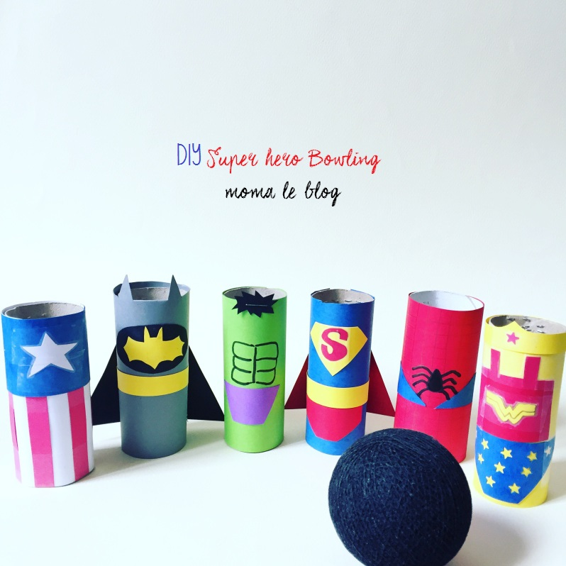 {DIY} Un mini bowling de super héros!