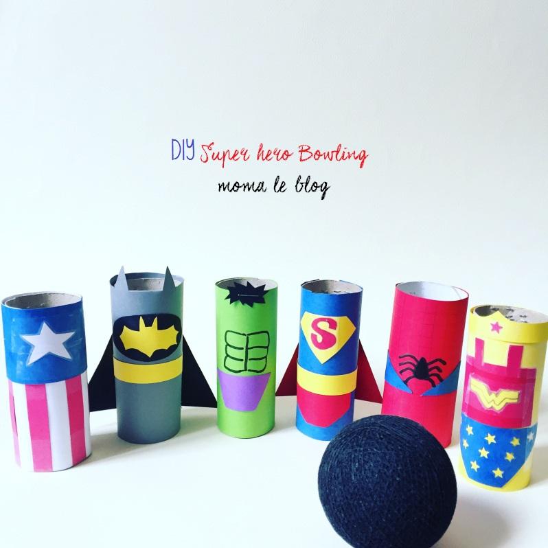{DIY} Un mini bowling de super héros!