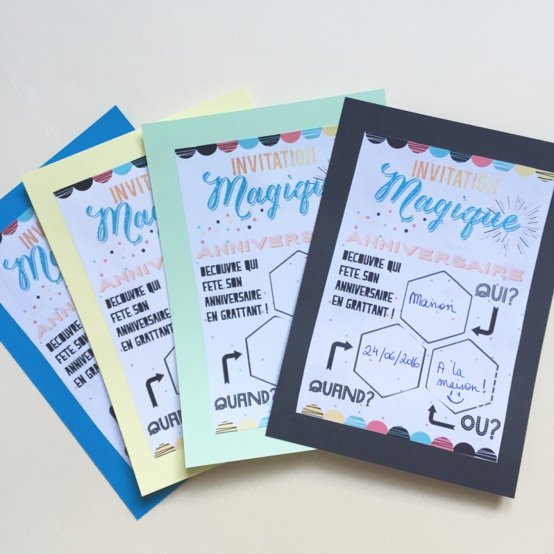 {Free printable} L'invitation magique à gratter!