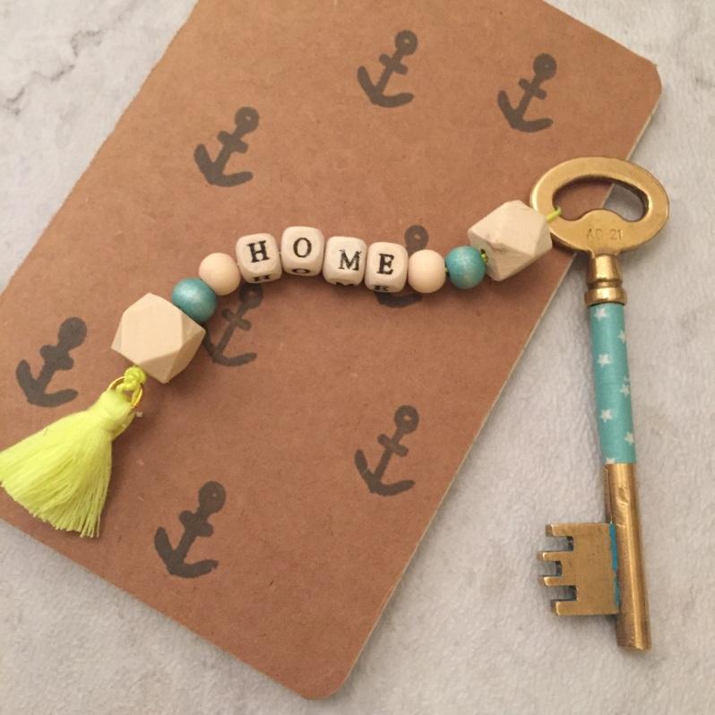 {DIY} Les portes clés en bois!