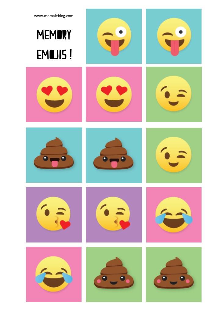 {Free} Memory emojis à imprimer!