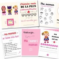 {Free printable} Le cahier à compléter pour la fête des mères!