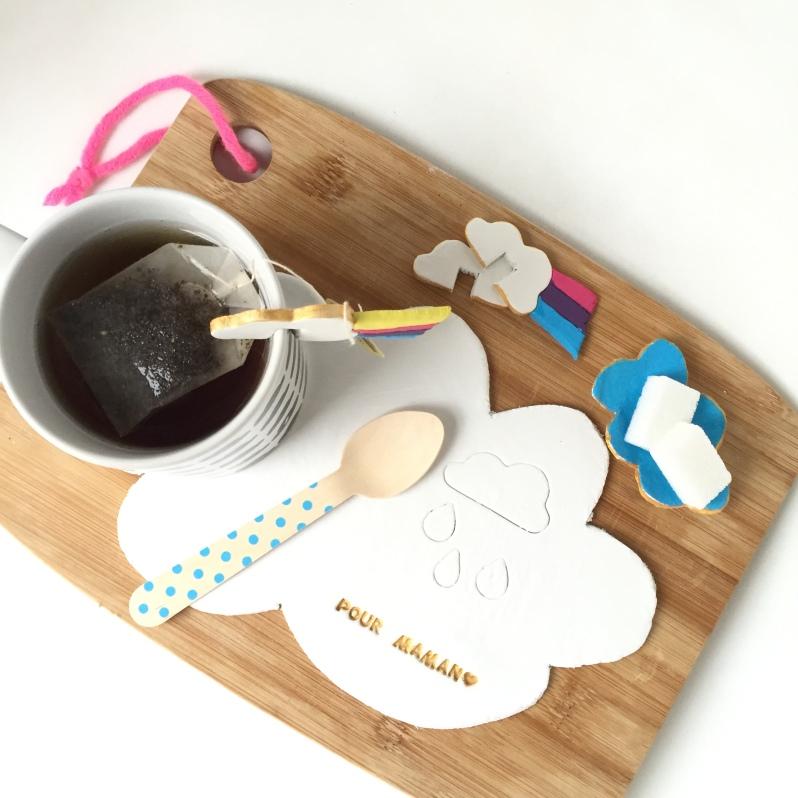 {DIY fête des mères} Le set à thé nuages!