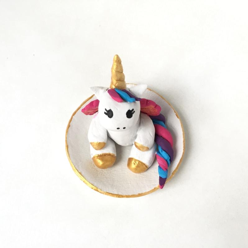{DIY Fête des mères} La jolie licorne porte bijoux!