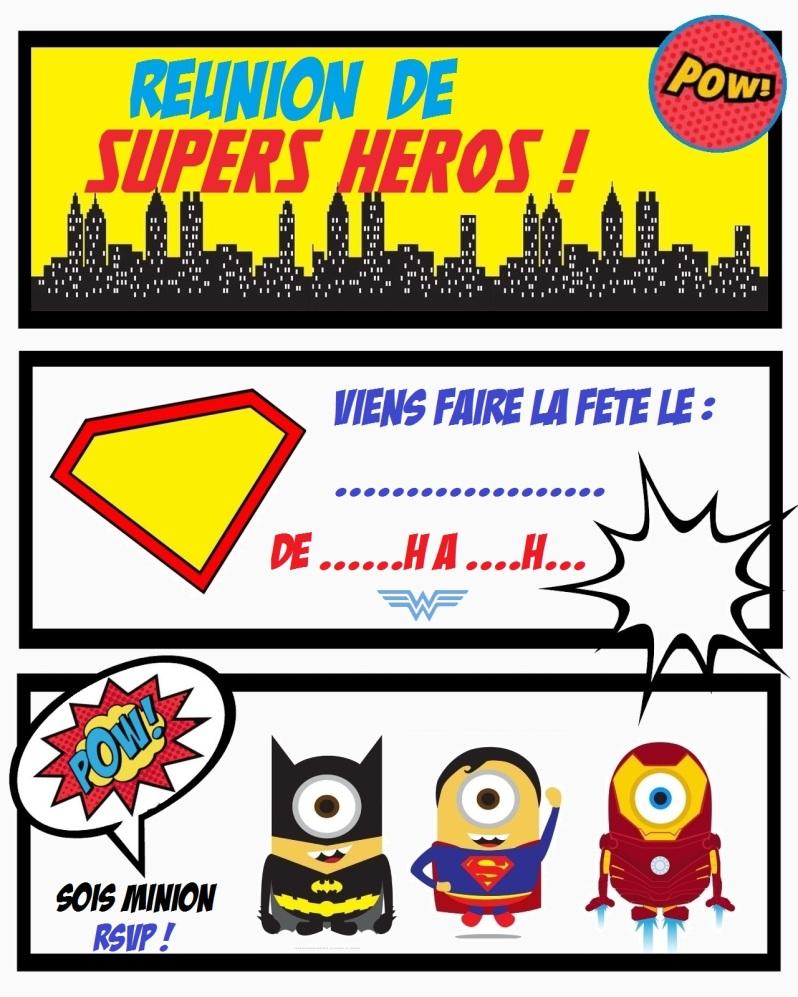 {Free} Invitation avengers super heros - Moma le blog