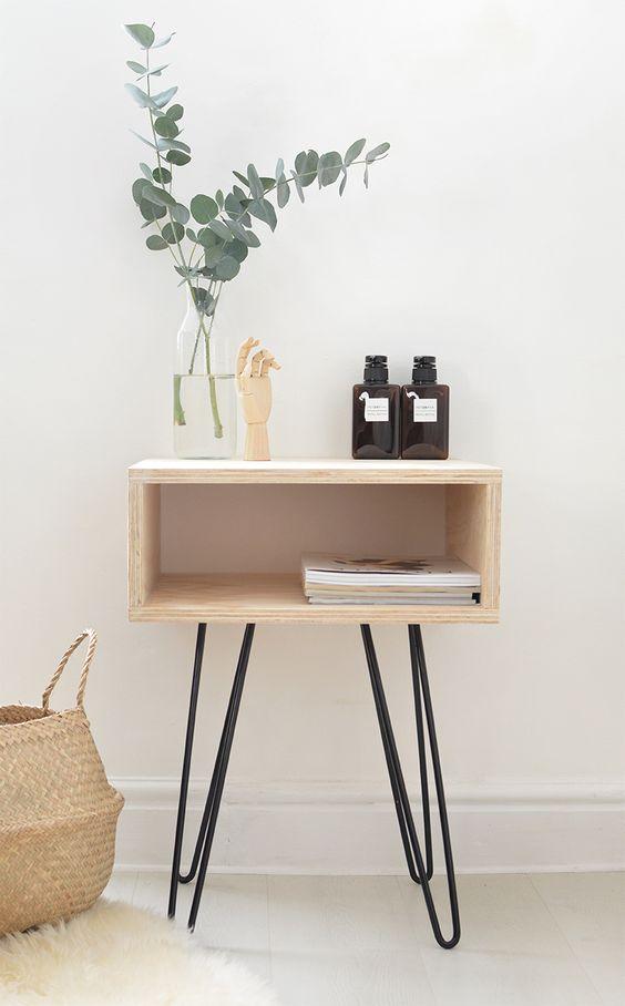 diy home 10 projets en bois pour un style pur et chic. Black Bedroom Furniture Sets. Home Design Ideas