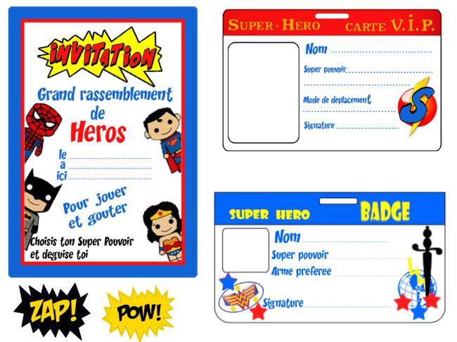 {Free printable} Plus de 30 printable pour une fête de super héros!