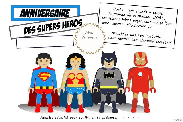 Berühmt Free printable} Plus de 30 printable pour une fête de super héros! HF79