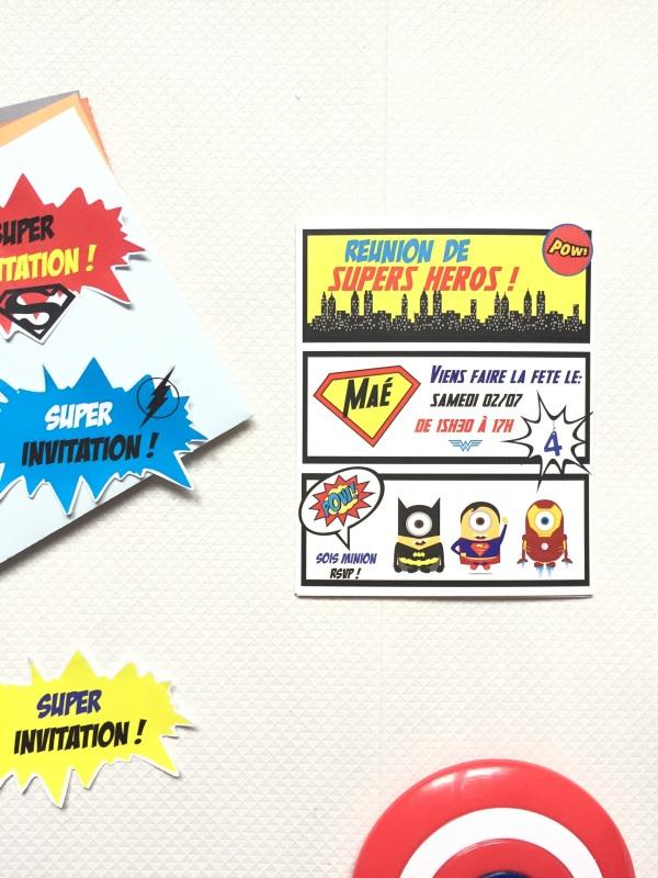 {Free printable} L'invitation Avengers et étiquettes pour enveloppes!