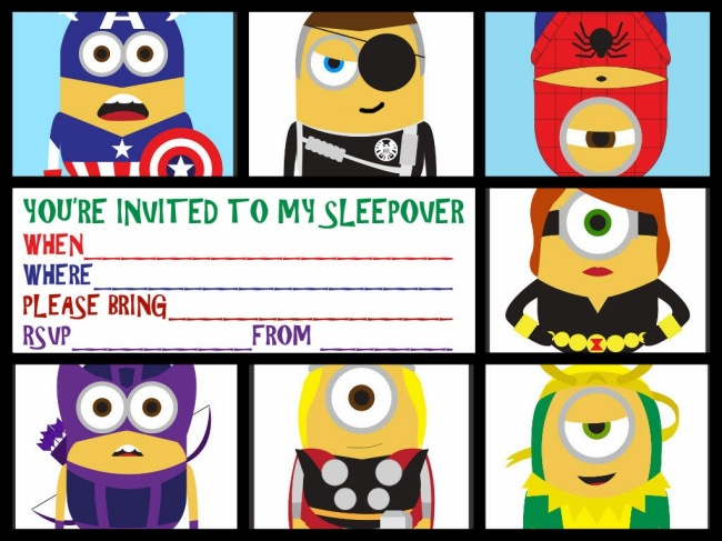 MINIONS DESPICABLE ME PARTY INVITATION