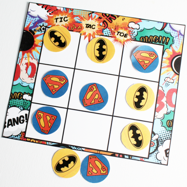 Superhero-Tic-Tac-Toe
