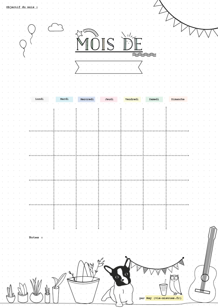 {Freebies} 10 printables pour s'or-ga-ni-ser! Moma le blog