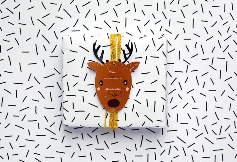 {Free Printable} Sélection d'étiquettes pour cadeaux de Noël !