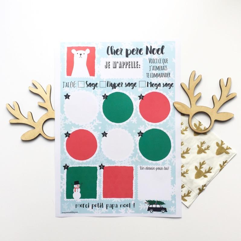 {Free printable} La liste au Père Noël! Moma le blog