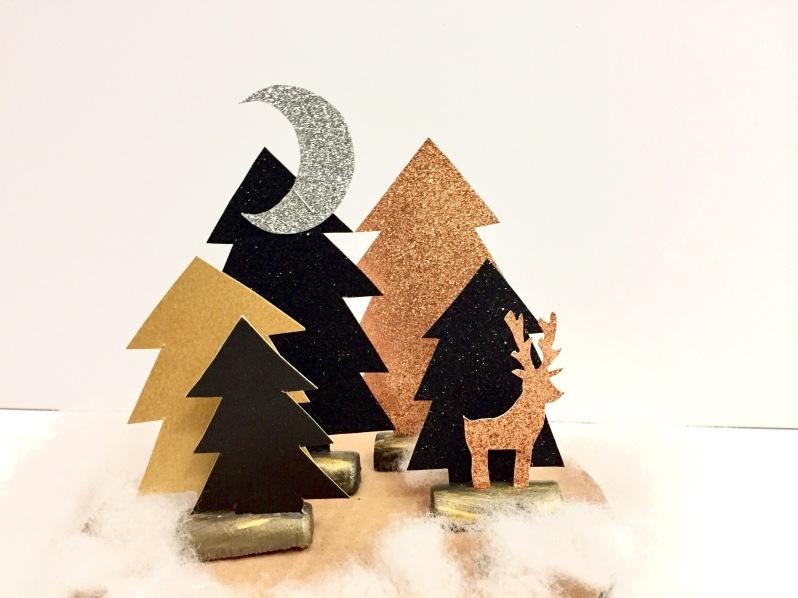 {DIY Noël} La forêt enchantée en papier - Moma le blog
