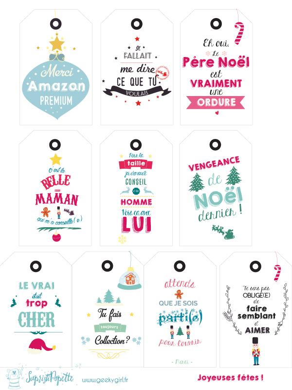 Fabuleux Free Printable} Sélection d'étiquettes pour cadeaux de Noël ! KN32