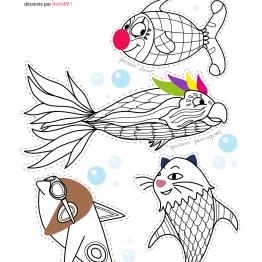 Coloriage-4-poissons-d-avril