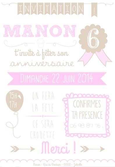 invitation pink