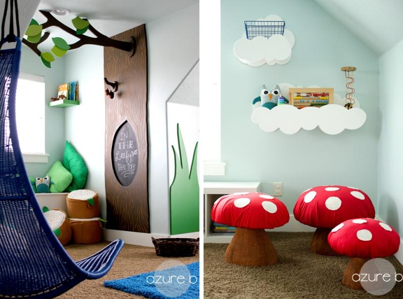 d co 25 id es pour am nager un coin jeu dans une chambre d enfant. Black Bedroom Furniture Sets. Home Design Ideas