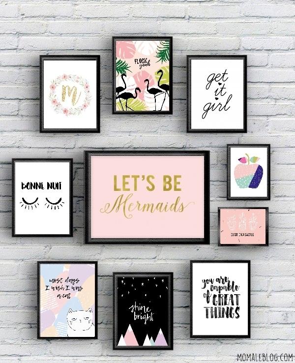 free printable 10 posters girly imprimer. Black Bedroom Furniture Sets. Home Design Ideas