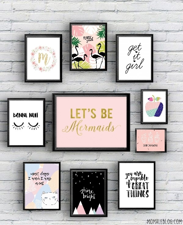 free printable 10 posters girly imprimer. Black Bedroom Furniture Sets. Home Design Ideas
