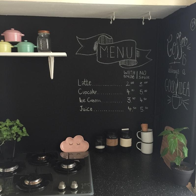 Déco Un Mur Ardoise Dans La Cuisine