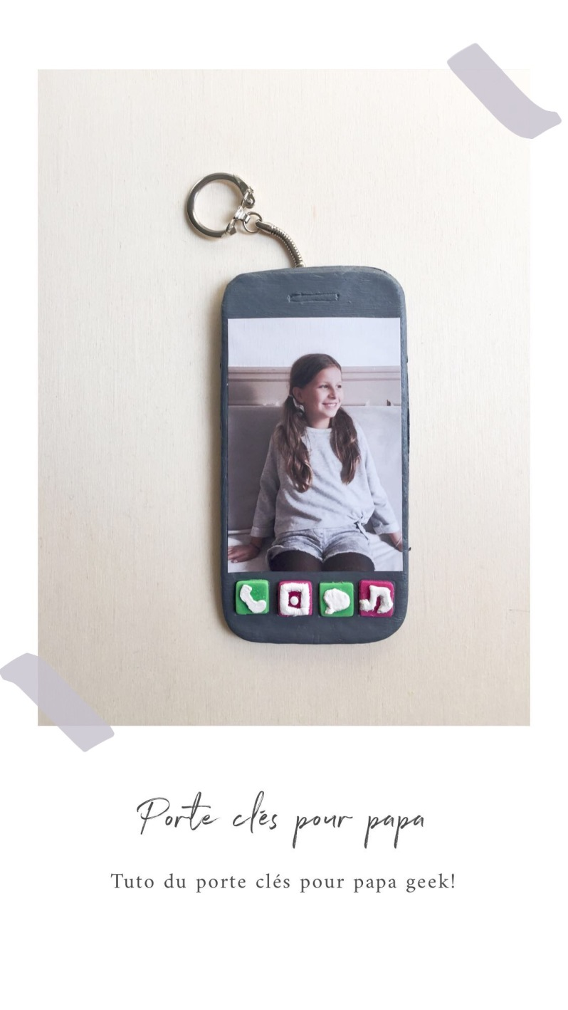 603fd345ac9 Je vous montre comment fabriquer un porte clés façon iphone pour les papas  geek!